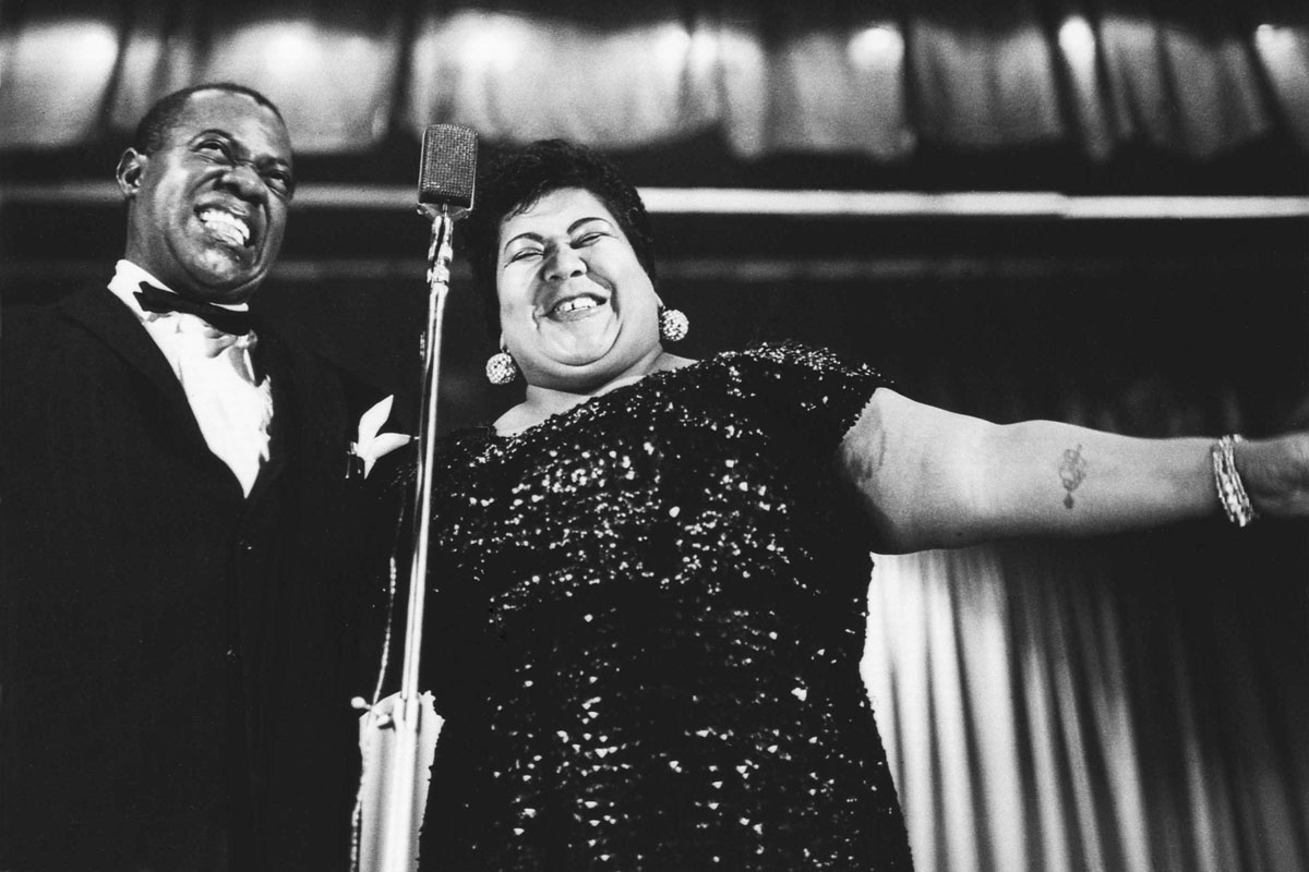 Louis Armstrong e Velma Middleton, Milano, 1959 © Riccardo Schwamenthal / CTSimages - Phocus