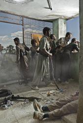 Theater of war photographs with a group of iranien kurdish guerrilla Iraq 2012 © Emeric Lhuisset
