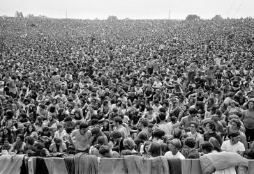 The Woodstock Festival was billed as 'An Aquarian Exposition: 3 Days of Peace & Music' in Woodstock, Bethel, NY, August 1969.