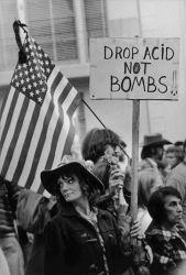 Drop Acid Not Bombs, Anti-War Moratorium, Golden Gate Park, San Francisco - November 16, 1969  Photo © Robert Altman