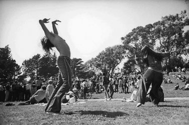 "Dance! ""Hippie Hill"" ~ Golden Gate Park, San Francisco – April 20, 1969    Photo © Robert Altman"